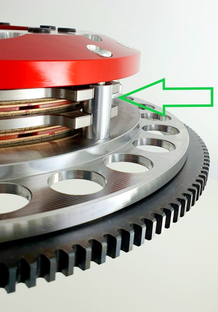 Example Lug Drive System Clutch for Motorsport Applications